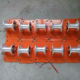 Rolo de aço da polia do cabo da polia do cabo distribuidor de corrente