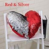 심혼 모양 인어 베개 상자 덮개 Sequins 색깔 소파 홈 장식을%s 변화 방석 덮개 장식적인 베개 베갯잇