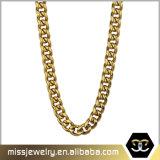 Diseños plateados el último oro del encadenamiento 24K del precio de fábrica de Missjewelry