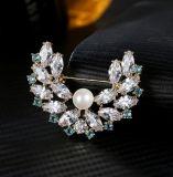 Moda grossista Broche jóias com Pearl Casca &AAA CZ homens /Mulheres Joalharia