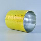 أسطوانة [390مل] [كندل هولدر] زجاجيّة مع أصفر صدم طلاء لّك زخرفة