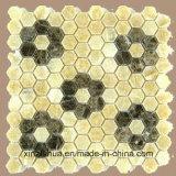 Ламинированные натурального мрамора мозаика плитка для наклейки на стену