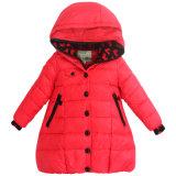 Тел-Форменный цветастая вниз куртка для маленькой девочки
