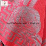 Châle chaud d'écharpe de jacquard de Madame Fashion Pashmina Rose Wall de la vente 2017