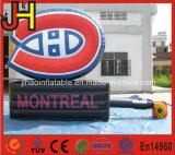 Cartelera publicitaria inflable de la promoción con la impresión de la insignia