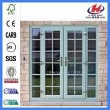 Porta de vidro especialmente francesa americana da madeira contínua do estilo (JHK-G32)