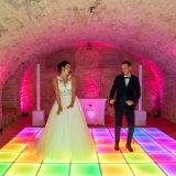 Discothèque en plein air sensibles colorés fête de mariage Interactive plancher de danse de LED