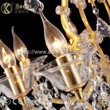 Long Golden K9 Crystal Chandelier Light