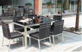 7 Ratan частей стола стула обедая установленная мебель ротанга
