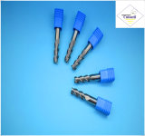 鋼鉄CNCの機械化の部品&#160のためのCutoutil HRC55 TialnのコーティングR0.75*3*4D*50L*2f/4f; 球の鼻の端製造所