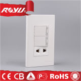 Preiswerte elektrische 2 Pin-allgemeinhinkontaktbuchse mit Schalter