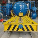 Remorque électrique actionnée de transport d'enrouleur de câbles sur des longerons