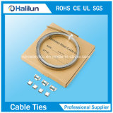 304 de Plaat van de Teller van de Kabel van het roestvrij staal met HandMachine
