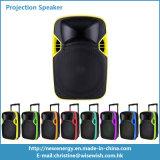 12 pulgadas de la carretilla de la etapa LED de altavoz plástico de la proyección con la batería