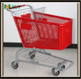 100 litros de carro de compras plástico