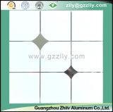 Beau plafond polymère de résistance de la corrosion de configuration de pierre d'or avec la ligne argentée