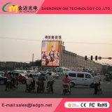 Publicidade em vídeo impermeável ao ar livre, P10.66 HD Tela LED de cor total