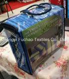 Fábrica por atacado poli/do fundamento moderno da colcha da tela material do algodão tamanho ajustado estofando do gêmeo da folha de tampa da base