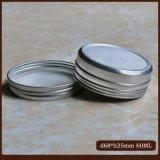 Aluminiumzinn 60ml für Kosmetik mit Schraube Kappen-Schliessen