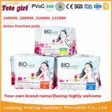 2015 heiße Verkaufs-Wegwerffrauen-gesundheitliche Serviette für Afrika, Baumwolldame-Auflagen, Anionen-gesundheitliche Serviette