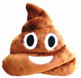 Palier bourré mou drôle d'Emoji de forme de selles de peluche d'emoticon
