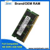 De bulk RAM van de Verpakking 256mbx8 16c DDR3 SODIMM 1333 4GB