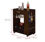 Gabinetes de cozinha de madeira laminados MFC modernos do armário (HX-DR465)