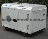 5kw5kVA 휴대용 공기에 의하여 냉각되는 단 하나 실린더 침묵하는 디젤 엔진 발전기