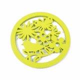 Coaster creativo do copo de feltro de 100% nas cores