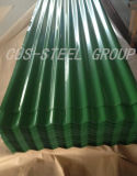 Feuille de toiture en acier ondulé PPGI