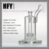 HfyマトリックスのPercのバブラーの水ぎせるの煙るガラス配水管とのMobius 9インチの