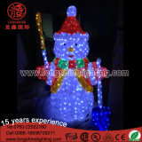 Licht des LED-Weihnachtsyard-dekoratives Schneemann-3D für Straße