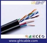 Cavo del cavo UTP Cat6e della rete Cable/LAN con il cavo elettrico due