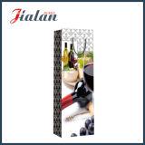 Sac bon marché simple estampé par piste faite sur commande de bouteille de papier de vin rouge