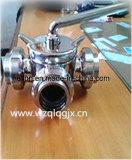 Санитарная нержавеющая сталь с клапаном штепсельной вилки молокозавода соединения