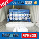 A água refrigerou 5 do bloco toneladas de máquina de gelo