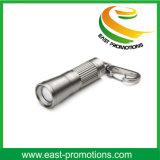 Mini linterna Keychain del LED con la impresión de la insignia