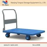 Caminhão de mão de dobramento resistente da plataforma de quatro rodas