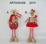 Regalo de la decoración del reno de la trenza de la Navidad