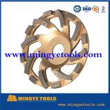 다이아몬드 콘크리트를 위한 가는 컵 바퀴