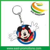 Изготовленный на заказ промотирование ключевой цепи PVC Mickey форменный мягкое резиновый