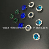 Горячий продавая Rhinestone кристалла 9mm в шить на Strass с Rhinestone установки когтя (TP-9mm полностью изумрудный круглый кристалл)
