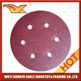 Красный круглый диск крюка & петли для деревянного меля истирательного диска