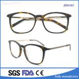 Acetato Eyewear del tempiale del metallo del telaio dell'ottica dei 2015 occhiali