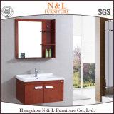 ヨーロッパ式の浴室用キャビネットの木製の浴室の虚栄心