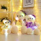 Amostra grátis New Fashion prendas de Natal LED recheadas Teddy Bear