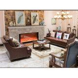 居間の家具As849のためのアメリカの現代デザイン本革のソファー