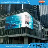 SMD P10 LED que hace publicidad de la pantalla del módulo