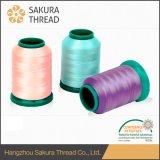 Oeko-Tex環境に優しく明るいポリエステル刺繍の糸