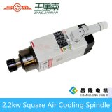 квадратным охлаженный воздухом высокочастотный мотор шпинделя 2.2kw для гравировального станка Woodworking CNC
